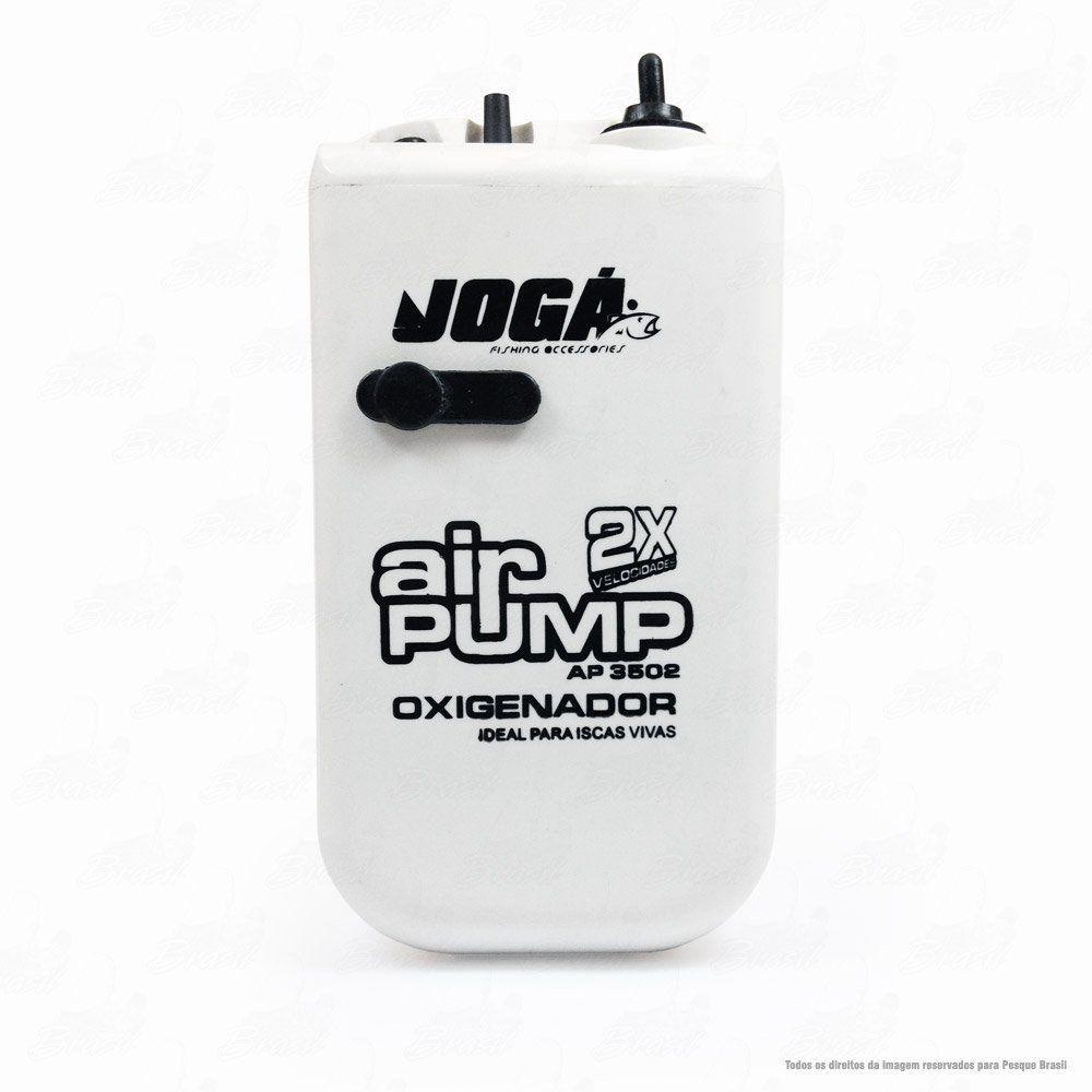 Oxigenador de Água Air Pump Crown AP 3502 Com Dois Adaptadores Elétricos Ideal para as Iscas Vivas