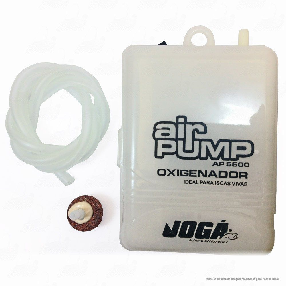 Oxigenador de Água Air Pump Crown AP 5500 Ideal para as Iscas Vivas