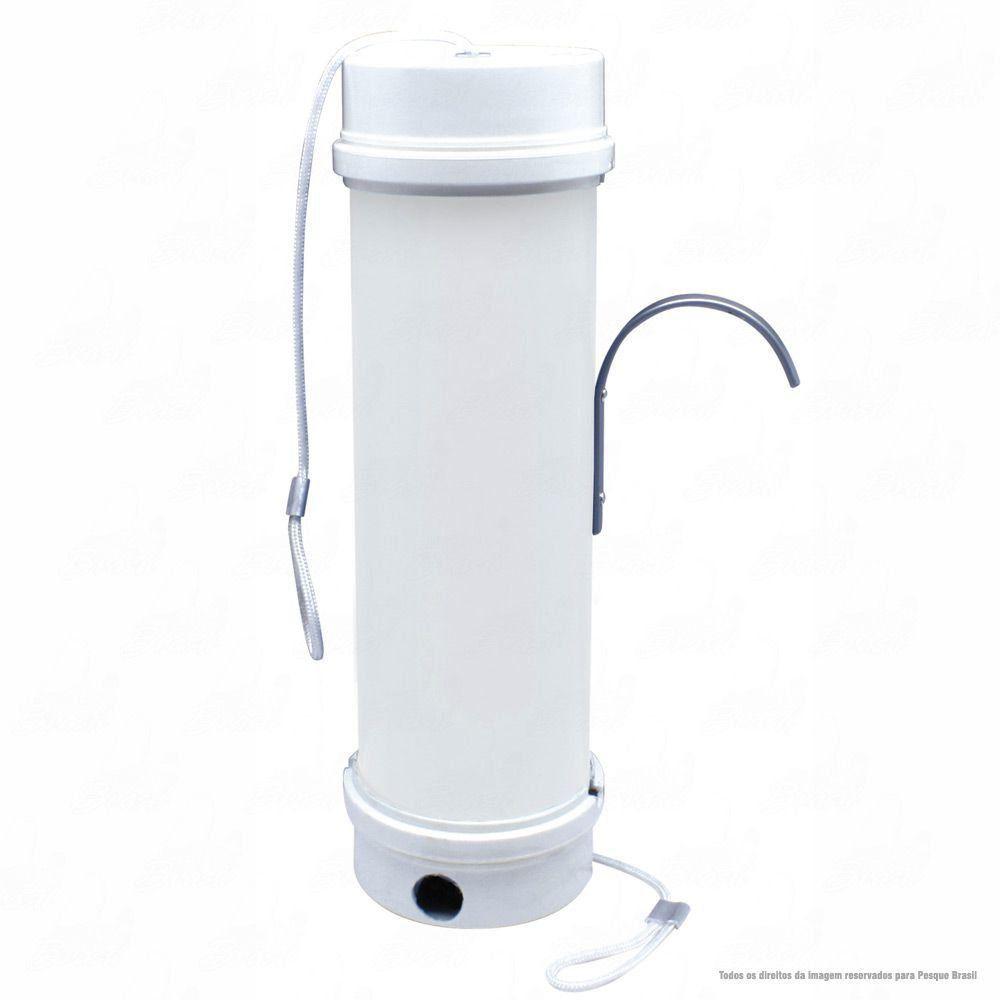 Tratador Cevador Jogá PVC 30cm de Altura Leve e Resistênte com Suporte Fixador Lateral