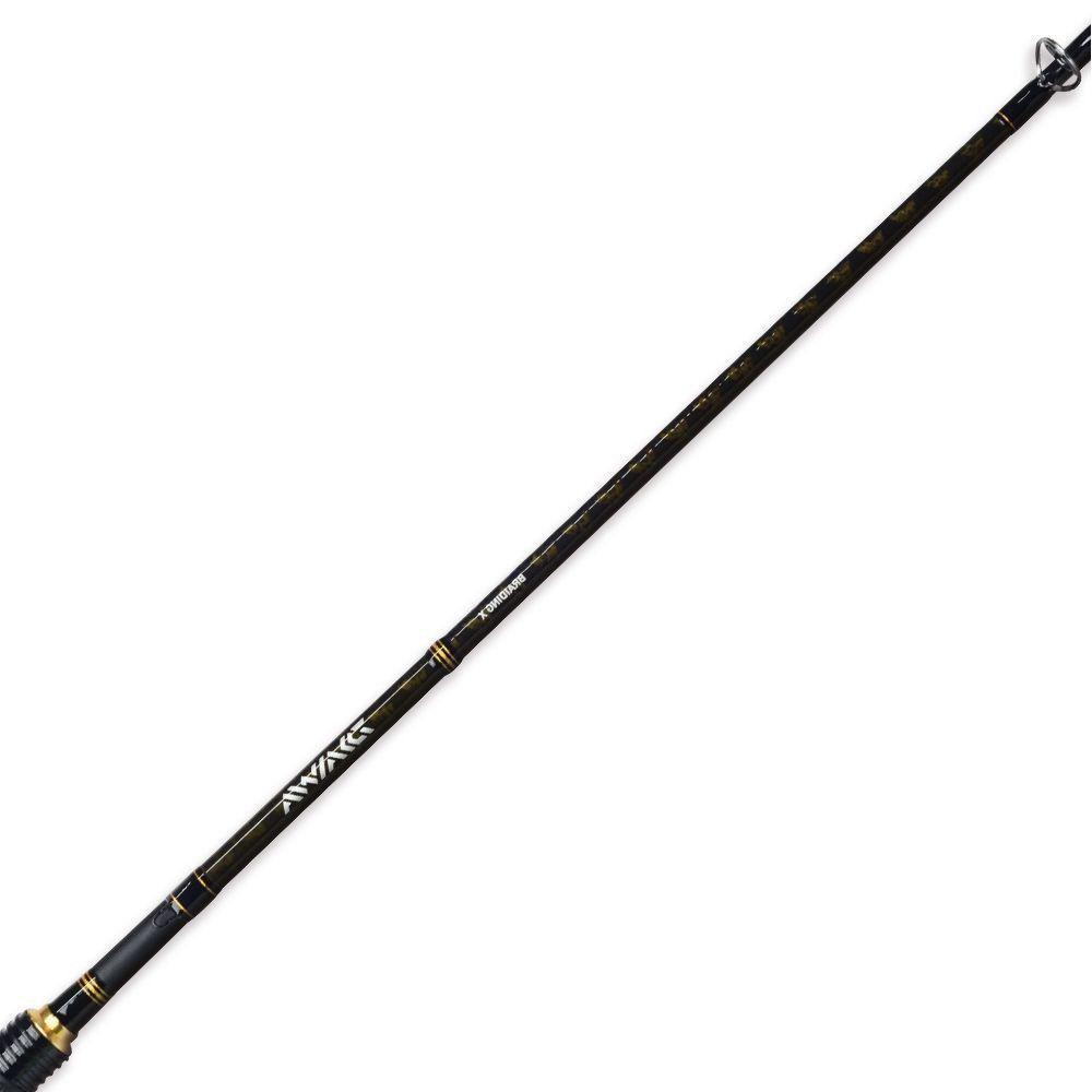 Vara de Pesca Daiwa Aird-X 562MHXB-BR 1,68m 10-25Lb Ação Rápida Potência Média Pesada 2 Partes p/ Carretilha