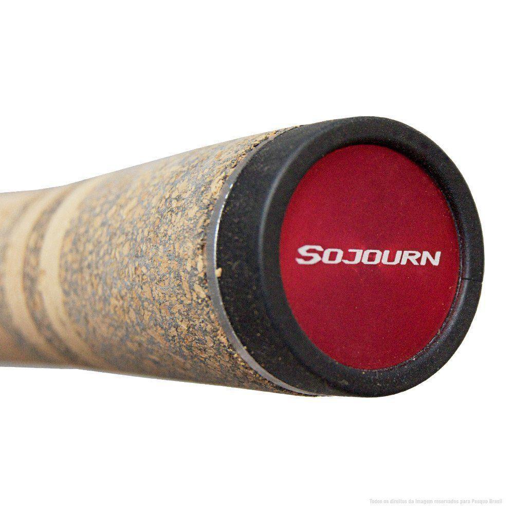 Vara de Pesca Shimano Sojourn SJC66M2A 1,98m Potência Média Pesada Ação Rápida 6-15lb Iscas 7-21g Para Carretilha 2 Partes