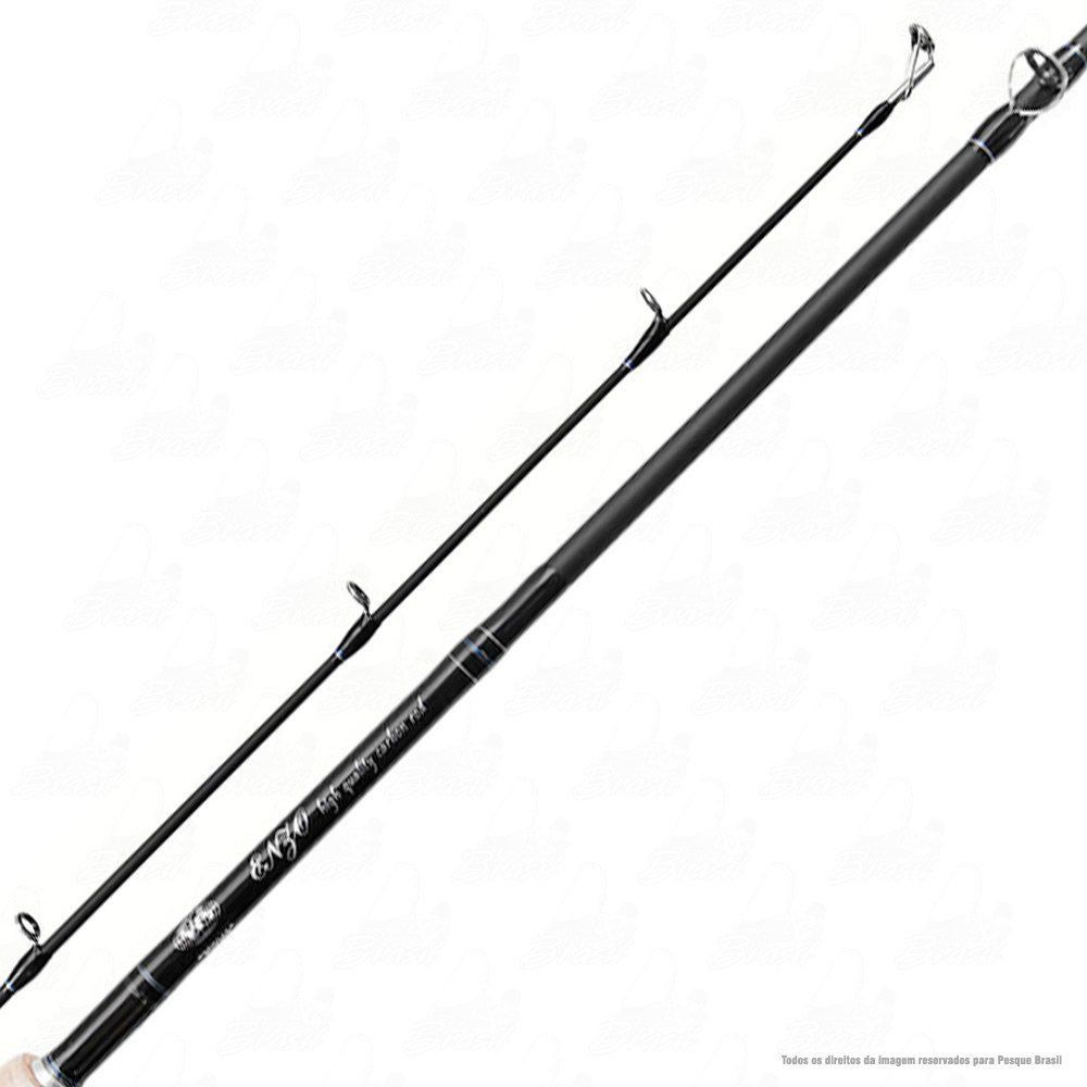 Vara Enzo III Albatroz 5.6 1,70m 12-25lb Carbono Ação Extra Rápida Potência Pesada Para Carretilha Inteiriça