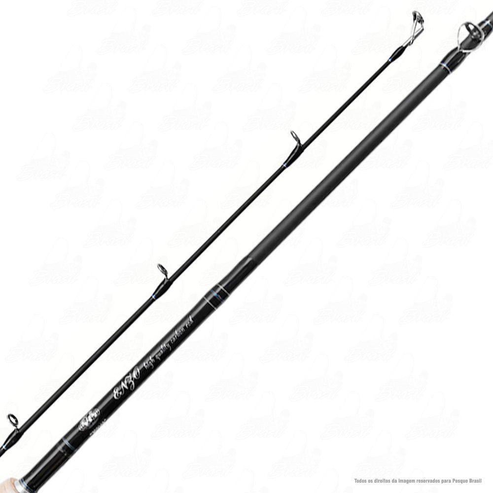 Vara Enzo III Albatroz 6.3 1,92m 12-25lb Carbono Ação Extra Rápida Potência Pesada Para Carretilha Inteiriça