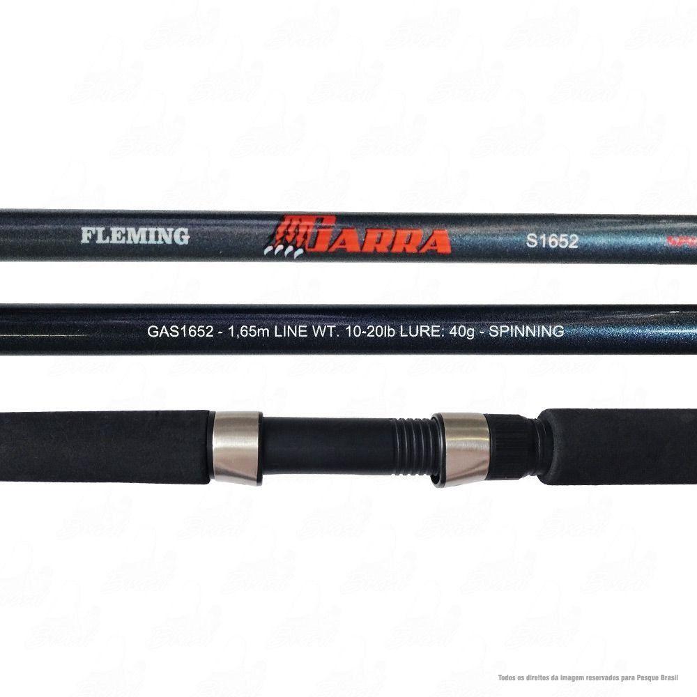 Vara Fleming Garra Grey S1652 1,65m Ação Média Rápida Potência Média 10-20lb Iscas 40g Spinning Para Molinete 2 Partes