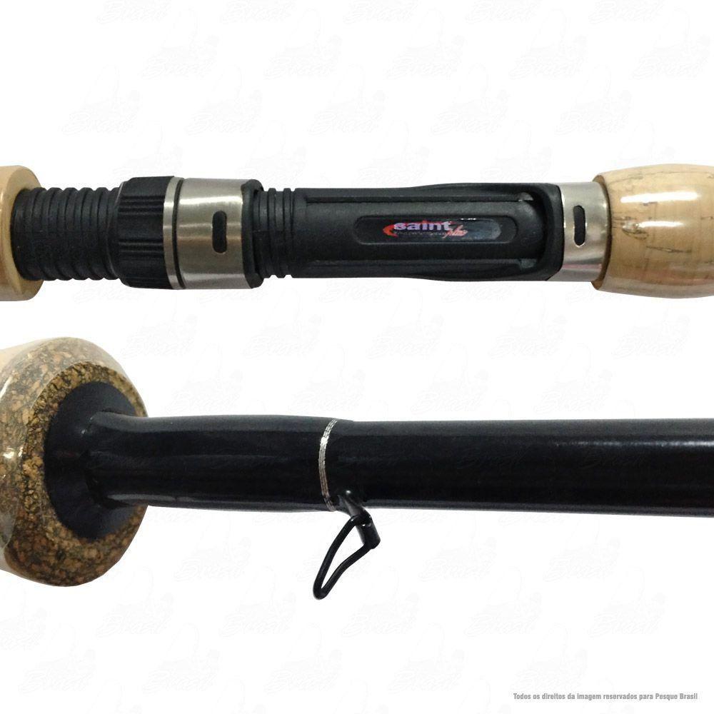 Vara Saint Plus Hammer LBS 602 SP 6'' 1,80m Ação Rápida Potência Média 8-20lb Carbono IM8 Para Molinete 2 Partes