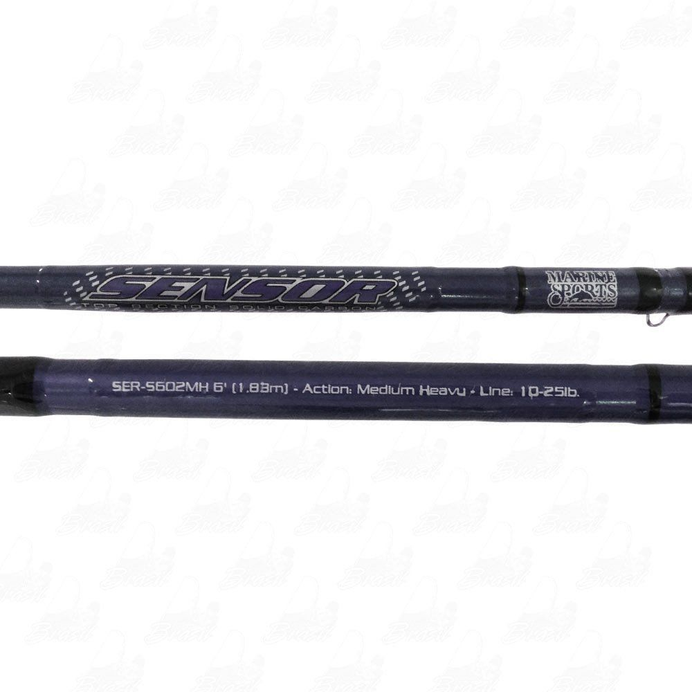 Vara Marine Sports Sensor SER-S 602MH 10-25LB Ação Média Potência Média Pesada Molinete 2 Partes