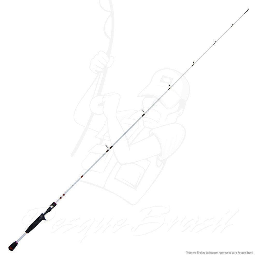Vara Viper I Albatroz Branca C601 1,80m 8-17lb Fibra de Carbono Ação Média Para Carretilha Inteiriça
