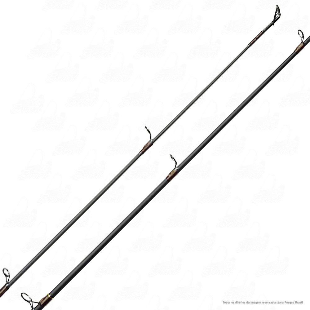 Vara Viper II Albatroz  C561 Preta 1,68m 10-20lb Fibra de Carbono Ação Média Rápida Inteiriça para Carretilha
