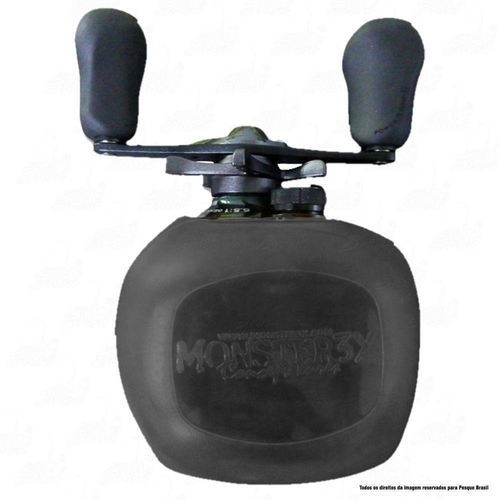 X-Bubble Capa Protetora de Carretilha Monster 3X Cor Preta Manivela Esquerda