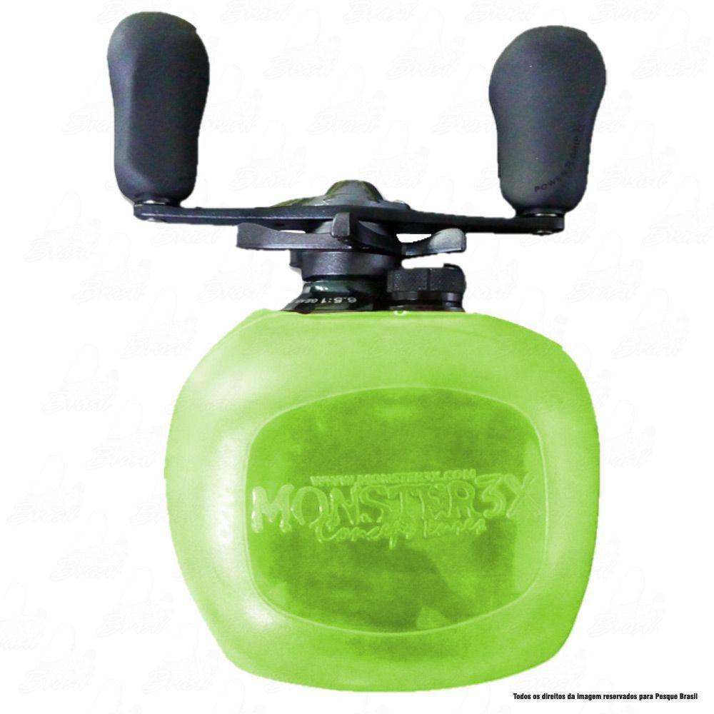 X-Bubble Capa Protetora de Carretilha Monster 3X Cor Verde Limão Manivela Esquerda