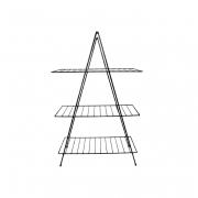 Aparador de Ferro Triangular Estilo Industrial Preto com 3 Andares 95cm x 60cm