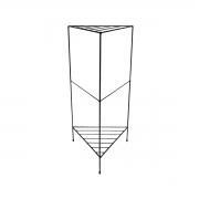 Aparador de Ferro Triangular Estilo Industrial Preto 75cm