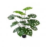 Arbusto Costela de Adão Artificial fixada em vaso 60cm