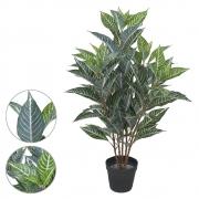 Árvore Afelandra Artificial Real Toque com Pote X104 Verde Creme 85cm - 43127002