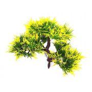 Árvore Bonsai artificial PLT Verde e Amarelo 19cm - 32124001