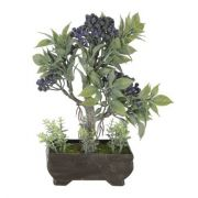 Árvore Bonsai artificial PLT X3 Roxo 21cm - 36707001
