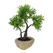 Árvore Bonsai artificial Verde com Vaso 20cm - 36661001