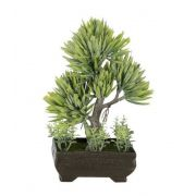 Árvore Bonsai artificial X3 Verde 21cm - 36708001
