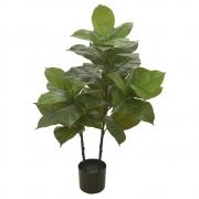 Árvore Ficus Artificial Real Toque com Pote X42 Verde 1m - 42933001