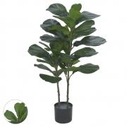 Árvore Ficus Lyrata artificial Real Toque X42 Verde 1m com Pote - 41883001