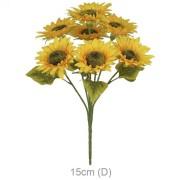 Buquê Artificial Girassol X5 Amarelo 50cm - 42206001