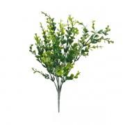 Buxinho Artificial Arbusto 7H Verde 36cm