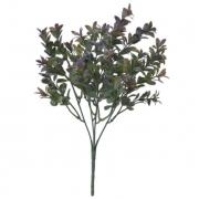Folhagem artificial Folha com Print PLT X30 Verde Púrpura 32cm - 42386002
