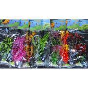 Folhagem artificial para aquário 20cm 01 unidade - Cores e Modelos Sortidas - 28112001