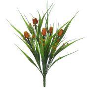 Folhagem artificial Tulipa PLT X5 cor Laranja 35cm - 08463004