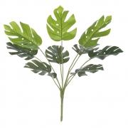Folhagem Costela de Adão Artificial Real Toque X9 Verde 43cm - 42495004