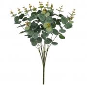 Folhagem Eucalipto artificial X72 cor Verde Outono 50cm - 26514002