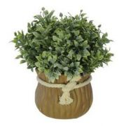 Folhagem Grass Powder artificial Verde com Vaso 15cm - 36692001