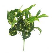 Folhagem Jiboia Artificial Buquê X7 Verde 30cm