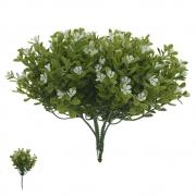 Folhagem artificial Pick Flor Mini PLT X30 Branco 23cm - 25371003