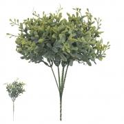 Folhagem Pick Folha artificial PLT X9 Verde Outono com Powder 25cm - 42401002