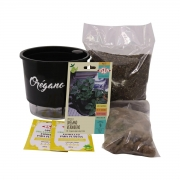 Kit Completo Inicial Preto: Meu Primeiro Plantio de Orégano + Manual de plantio