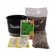 Kit Completo Inicial Preto: Meu Primeiro Plantio de Tomilho + Manual de plantio
