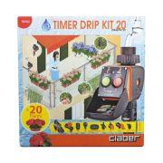 Kit de irrigação Drip 20 vasos com Timer - Claber