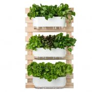 Kit Horta Vertical 100cm x 60cm com 3 Jardineiras Autoirrigáveis Raiz Branco