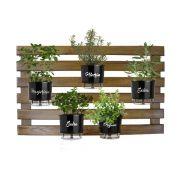 Kit Horta Vertical 60cm x 100cm cor Castanho Completa
