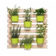 Kit Horta Vertical 80cm x 80cm com 6 Vasos Verde