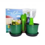 Kit Jardinagem Infantil Completo Plantio de Girassol