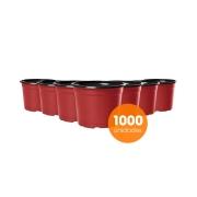Kit Vaso de Planta Holambra NP 06 Vermelho e Preto - 1000 unidades