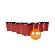 Kit Vaso de Planta Holambra NP 06 Vermelho e Preto  - 500 unidades