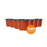 Kit Vaso de Planta Holambra NP 11 cor Cerâmica e Preto - 1000 unidades