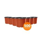 Kit Vaso de Planta Holambra NP 11 cor Cerâmica e Preto - 500 unidades