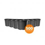 Kit Vaso de Planta Holambra NP 14 Preto - 500 unidades