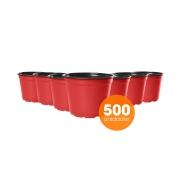 Kit Vaso de Planta Holambra NP 14 Vermelho e Preto - 500 unidades