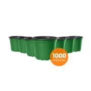 Kit Vaso de Planta Holambra NP 15 Verde e Preto - 1000 unidades