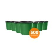 Kit Vaso de Planta Holambra NP 15 Verde e Preto - 500 unidades